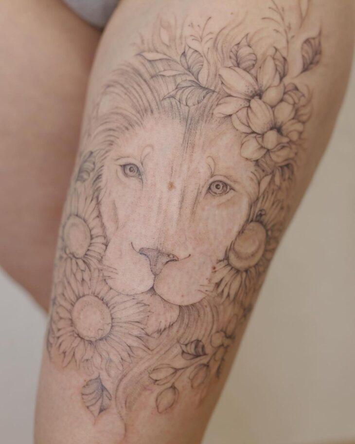 tatuagem de leão 69