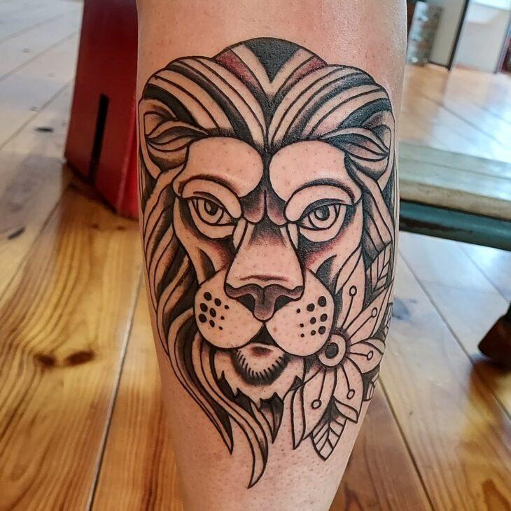 tatuagem de leão 70