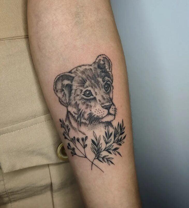 tatuagem de leão 73