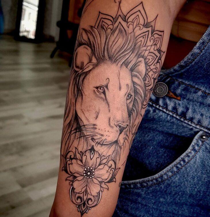 tatuagem de leão 74