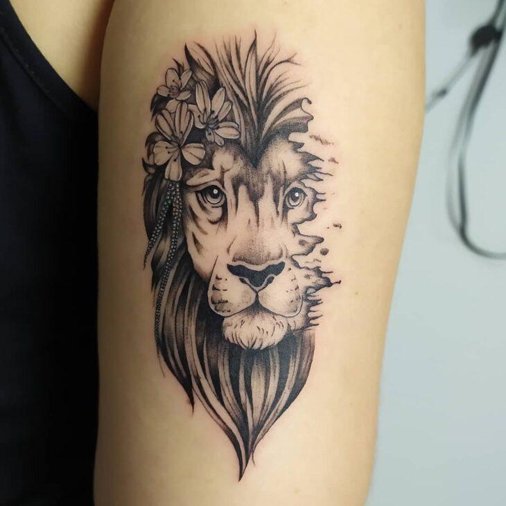 tatuagem de leão 78