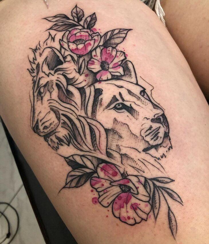 tatuagem de leão 80