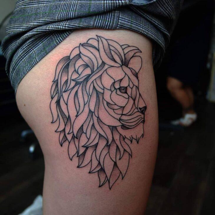 tatuagem de leão 82