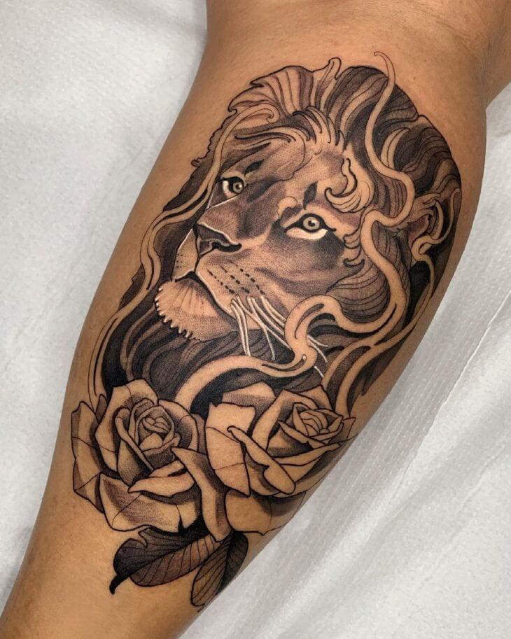 tatuagem de leão 85