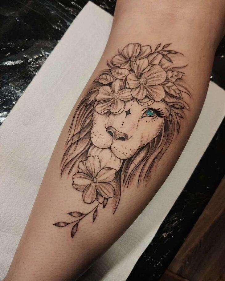tatuagem de leão 86