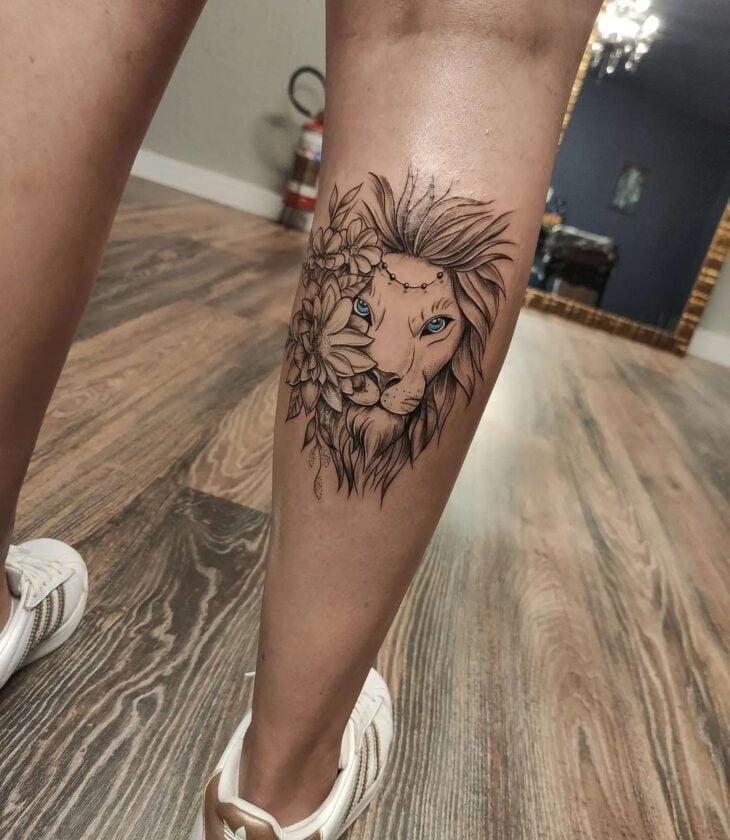 tatuagem de leão 87