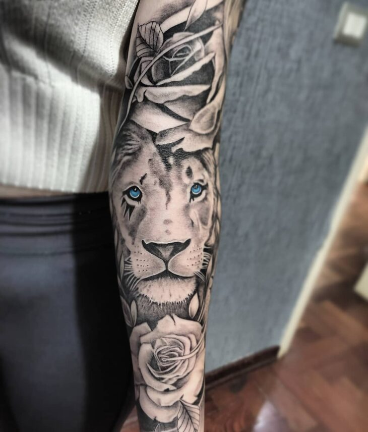 tatuagem de leão 88