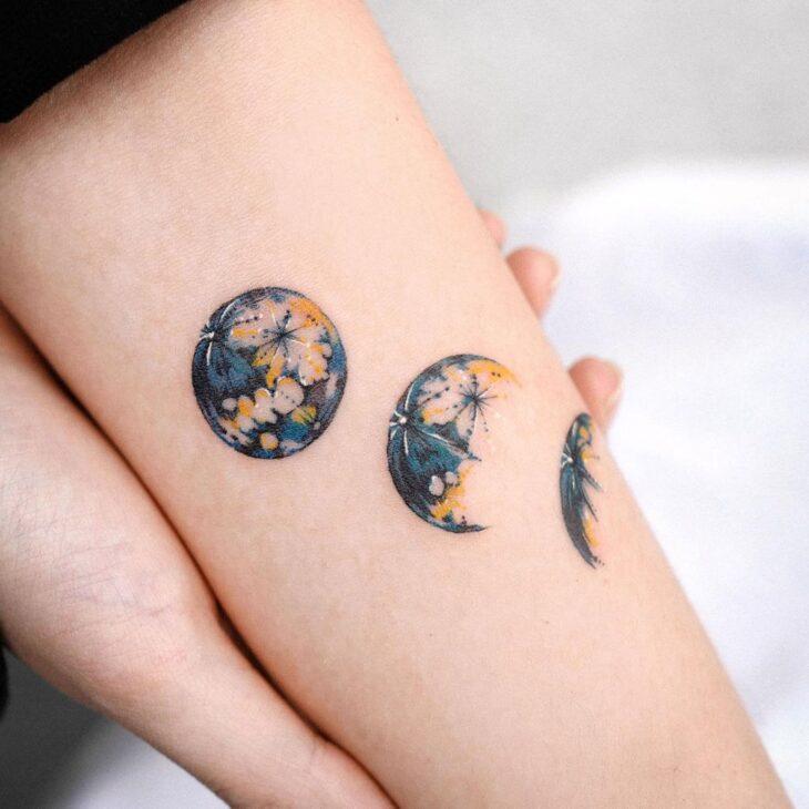 tatuagem de lua 45