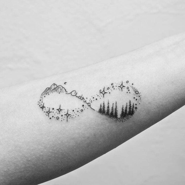 tatuagem de infinito 22