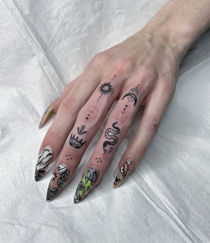 tatuagem no dedo 70