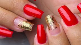 60 fotos de unhas vermelhas com glitter lindas e glamorosas